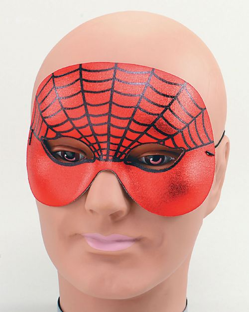 Spider Web Domino Half Face Eyemask Insect Arachnid Creepy Crawly Insect Party
